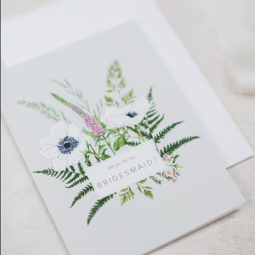 Wild Meadow 'Bridesmaid' Card