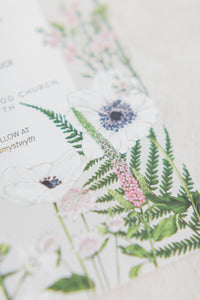 Wild Meadow - Semi-custom Botanical Wedding Invitation Suite