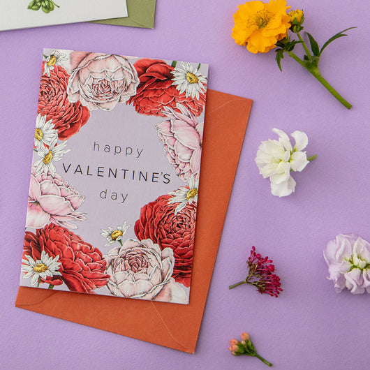 Champ de Fleur 'Happy Valentine's Day' Card