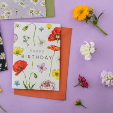 Load image into Gallery viewer, Champ de Fleur 'Happy Birthday' Card