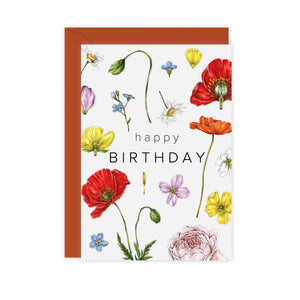 Champ de Fleur 'Happy Birthday' Card