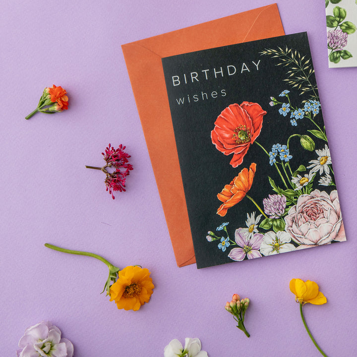 Champ de Fleur 'Birthday Wishes' Card