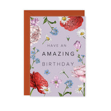 Load image into Gallery viewer, Champ de Fleur 'Have an Amazing Birthday' Card