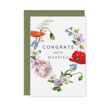 Load image into Gallery viewer, Champ de Fleur 'Congrats You're Married' Card