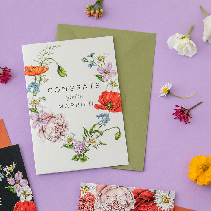 Champ de Fleur 'Congrats You're Married' Card
