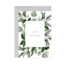 Load image into Gallery viewer, Greenery 'Happy Birthday' Card