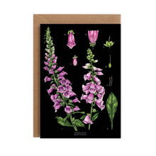 Load image into Gallery viewer, Botanical 'Foxglove' Species Card