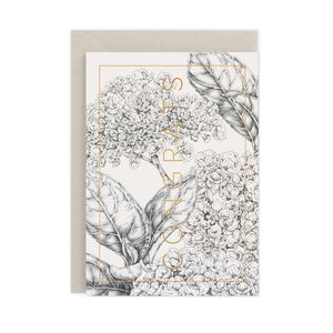 Natural Luxe 'Congrats' Card - SALE