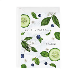 Botanical Party 'Gin' Card
