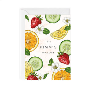 Botanical Party 'Pimms' Card