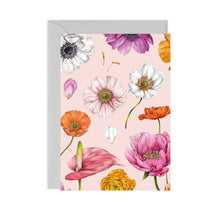 Load image into Gallery viewer, Floral Brights Pink Card