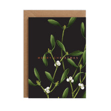 Load image into Gallery viewer, Mistletoe - Black Christmas Card