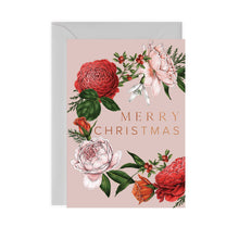 Load image into Gallery viewer, Berry Roses - Wreath - Pink Christmas Card