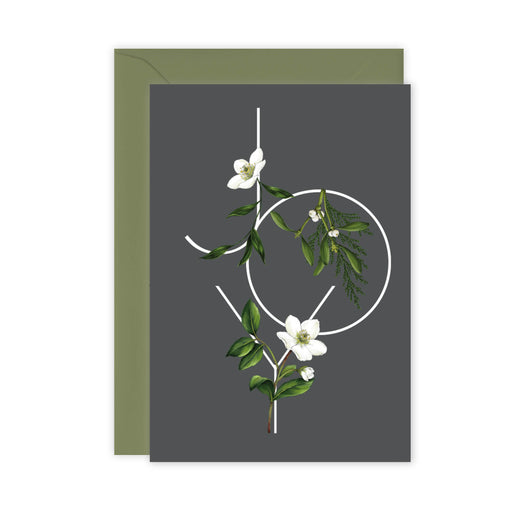 Festive Foliage - JOY - Christmas Card - SALE