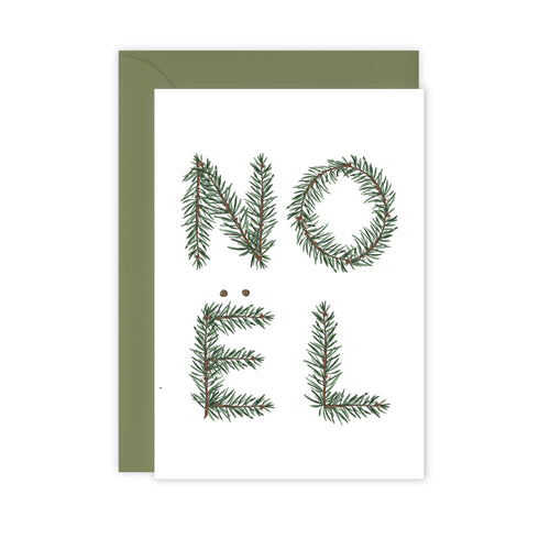 Festive Foliage - NOEL - Christmas Card - SALE