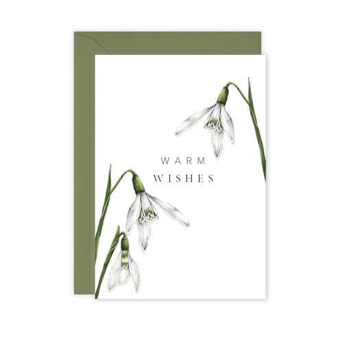 Festive Foliage - Warm Wishes - Christmas Card - SALE