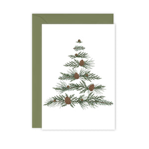 Festive Foliage - Xmas Tree - Christmas Card