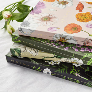 Hardback A5 Sketchbook - Floral Brights