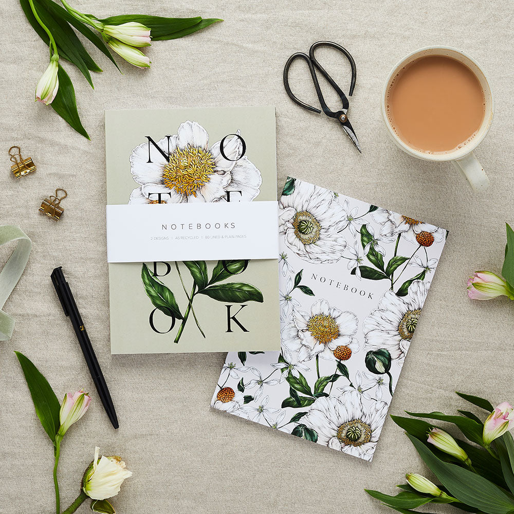 'Spring Blossom' Collection - A5 Set of 2 Notebooks