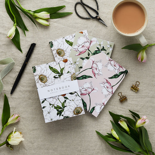 'Spring Blossom' Collection - A6 Set of 3 Notebooks