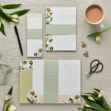 Load image into Gallery viewer, Stationery Trio - Planner, Notepad & List Pad Set - Spring Blossom