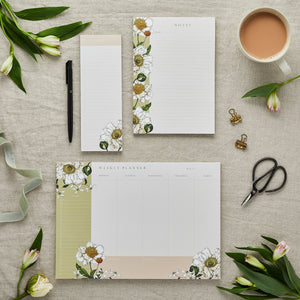 Stationery Trio - Planner, Notepad & List Pad Set - Spring Blossom