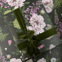 Load image into Gallery viewer, Summer Garden - Dark Green - Gift Wrap