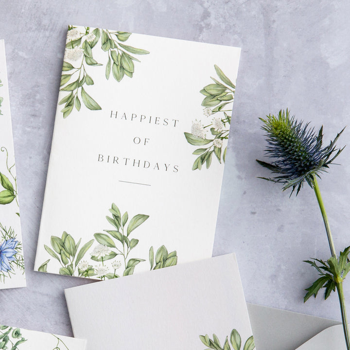 Ethereal 'Happiest of Birthdays' Card