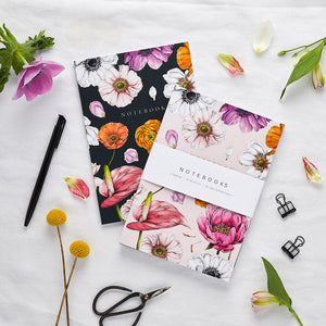'Floral Brights' Collection - A5 Set of 2 Notebooks