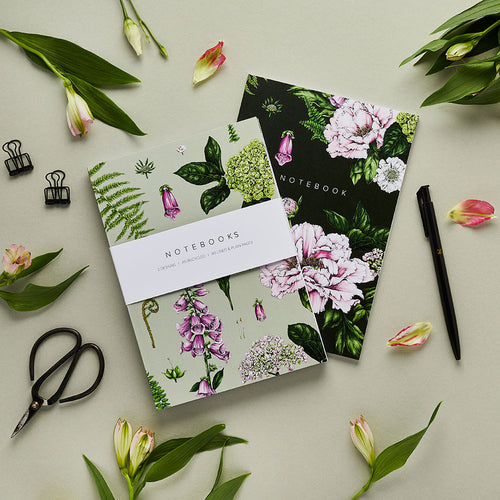 'Summer Garden' Collection - A5 Set of 2 Notebooks