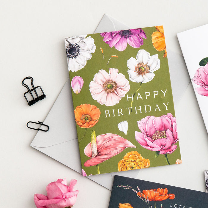 Floral Brights 'Happy Birthday' Card