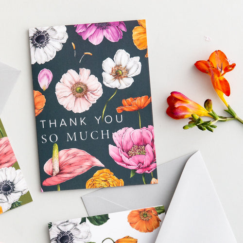 Floral Brights 'Thank You So Much' Card