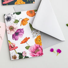 Load image into Gallery viewer, Floral Brights White Card