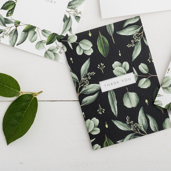 Greenery 'Thank You' Card