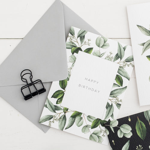 Greenery 'Happy Birthday' Card