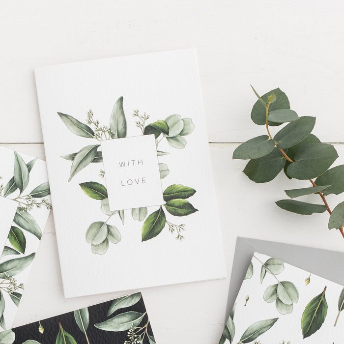 Greenery 'With Love' Card