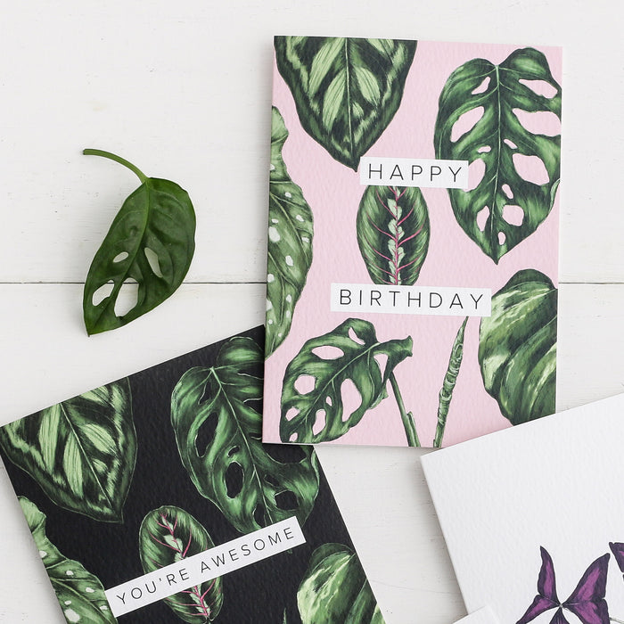 Houseplants 'Happy Birthday' Card