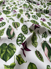 Load image into Gallery viewer, Houseplants - White - Fabric by the metre