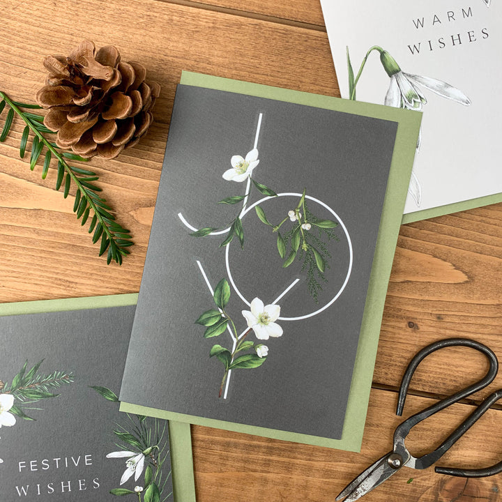 Festive Foliage - JOY - Christmas Card