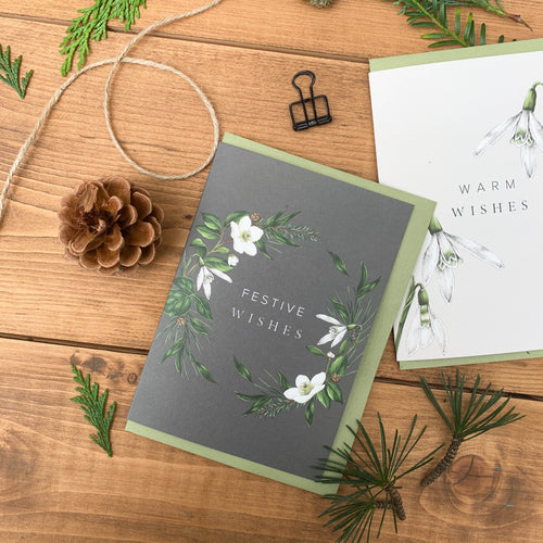 Festive Foliage - Festive Wishes - Christmas Card