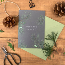 Load image into Gallery viewer, Festive Foliage - Deck the Halls - Christmas Card