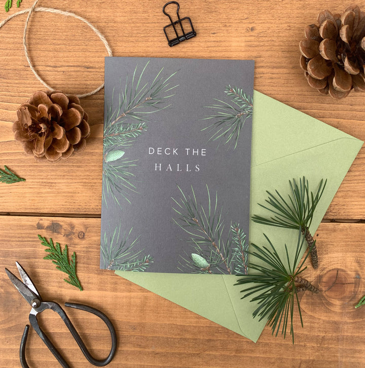 Festive Foliage - Deck the Halls - Christmas Card