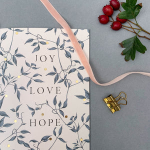 Merry Nouveau - Joy Love Hope - Christmas Card