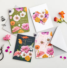 Load image into Gallery viewer, Floral Brights 'Happy Birthday' Card