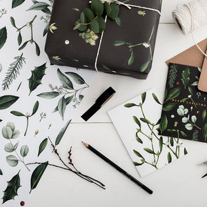Mistletoe - Black Christmas Gift Wrap