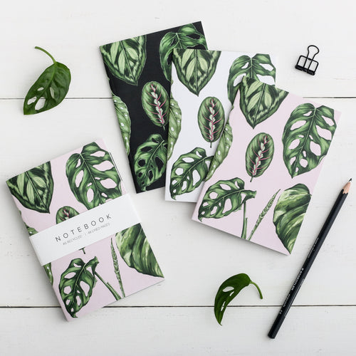 'Houseplants' Collection - A6 Set of 3 Notebooks