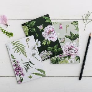 'Summer Garden' Collection - A6 Set of 3 Notebooks