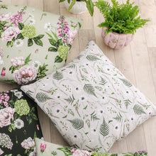 Load image into Gallery viewer, Wild Meadow - Square Botanical Cushion - Grey