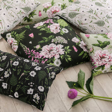 Load image into Gallery viewer, Wild Meadow - Rectangle Botanical Cushion - Black