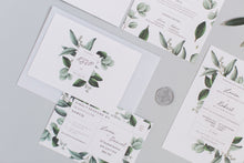 Load image into Gallery viewer, Greenery - Semi-custom Botanical Wedding Invitation Suite